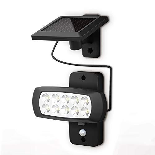 B.K.Licht I LED Außenleuchte mit Bewegungsmelder I Dämmerungssensor I 6.500K I IP44 I...