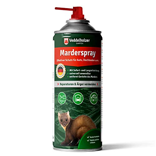 Veddelholzer Marderspray für Auto, Dachboden & Garage   400 ml   Sofortiger &...