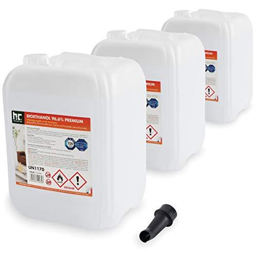 Höfer Chemie 30 L (3 x 10 L) Bioethanol 96,6% Premium - TÜV SÜD zertifizierte QUALITÄT...