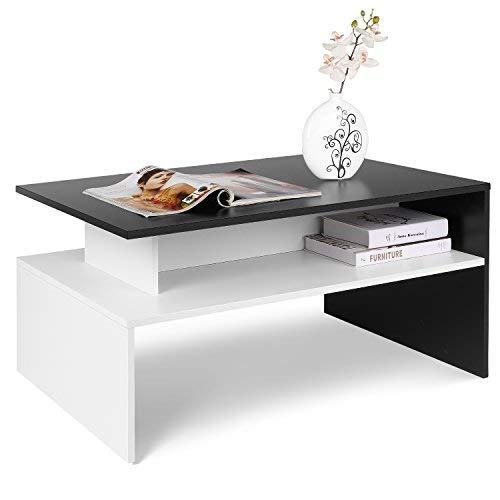 Homfa Couchtisch Wohnzimmertisch Beistelltisch Holztisch Kaffeetisch Holz 90x50x43cm...