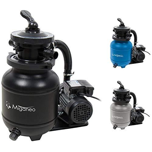 Miganeo 40385 Sandfilteranlage Dynamic 6500 Pumpleistung 4,5m³ blau, grau, schwarz, für...