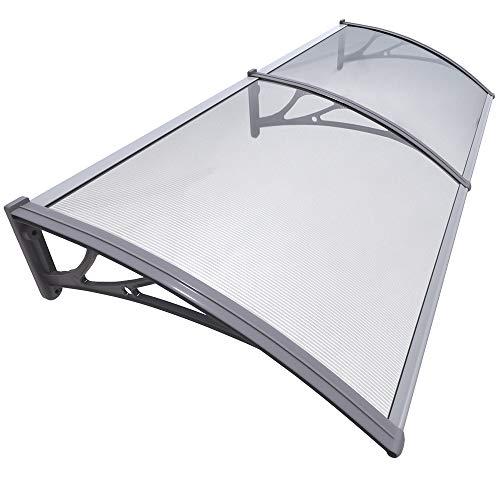 VOUNOT Vordach für Haustür 200 x 80 cm, Überdachung Haustür aus Aluminium und...