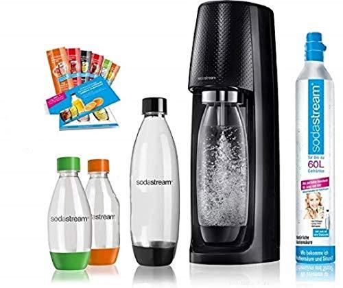SodaStream Easy Wassersprudler-Set Vorteilspack mit CO2- Zylinder, 2x 1 L PET-Flasche, 2x...