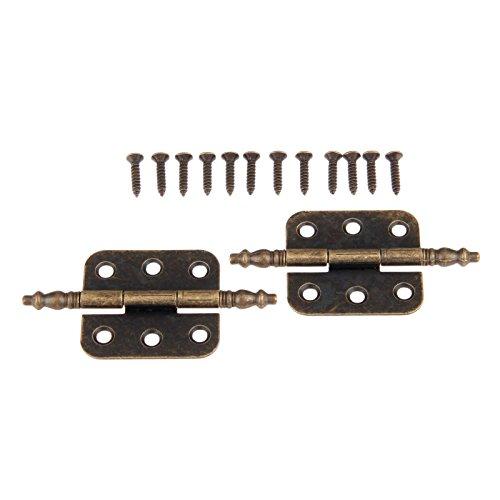 Dopheeantike Eisenscharniere in Bronzeoptik, 35x 70mm, 6Löcher, für...