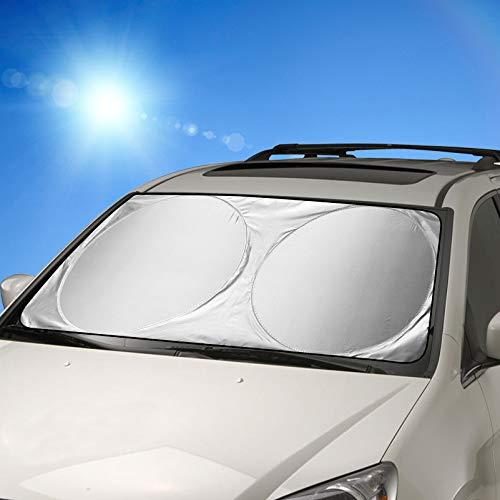 Auto Sonnenschutz, FRECOO Sommer Falten Sonnenschutz für Frontscheibe Auto Sonnenblende,...