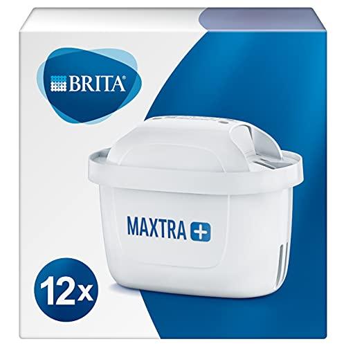 BRITA 1023130 Wasserfilter-Kartusche MAXTRA+ 12er Pack – Kartuschen für alle BRITA...