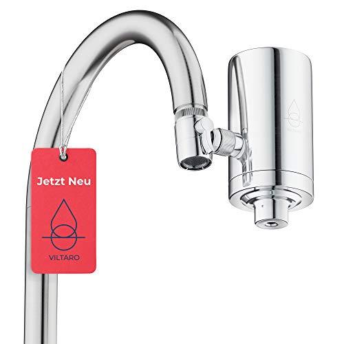 Viltaro Wasserfilter für Wasserhahn   Edelstahl   Leitungswasser filtern   Kalkfilter  ...