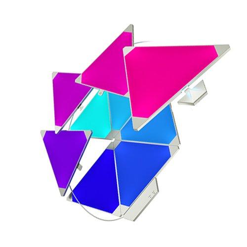 nanoleaf Light Panels Rhythm Starter Kit - 9x Modulare Smarte LED mit Sound Modul, App...
