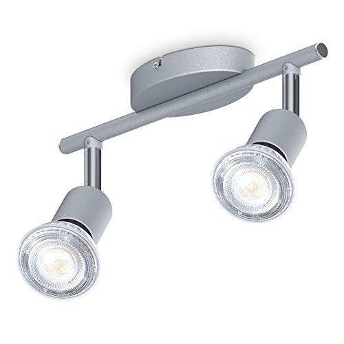 B.K.Licht I 2-flammiger LED Deckenspot I 2x 5W Leuchtmittel GU10 I 2x 400lm I dreh-...