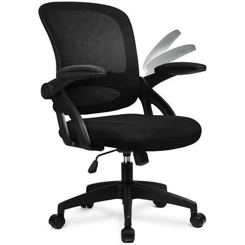 COMHOMA Bürostuhl mit hochklappbaren Armlehnen, Ergonomischer Schreibtischstuhl,...