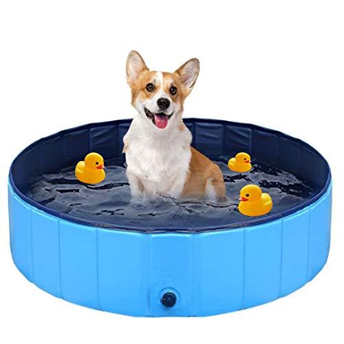 FayTun Hundepool Swimmingpool, haltbare PVC-Haustier-Badewanne, rutschfest, für drinnen...