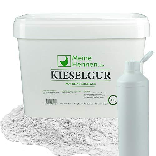 Meine Hennen (EUR 5,00/ kg) Kieselgur - 4 kg im 16,6 Liter Eimer mit Puderflasche -...