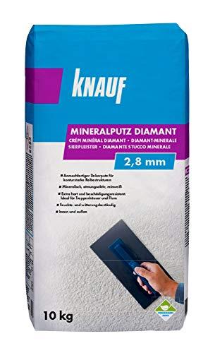 Knauf Mineralputz Diamant 2,8-mm Körnung – mineralischer Dekor-Putz, als Decken-,...