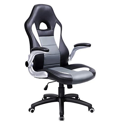 SONGMICS Gamingstuhl, Racing Chair, Schreibtischstuhl mit hoher Rückenlehne, Bürostuhl,...