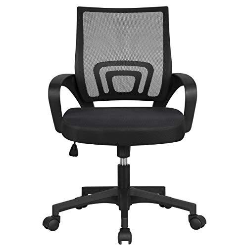 Yaheetech Bürostuhl Schreibtischstuhl ergonomischer Drehstuhl mit Rollen Chefsessel mit...