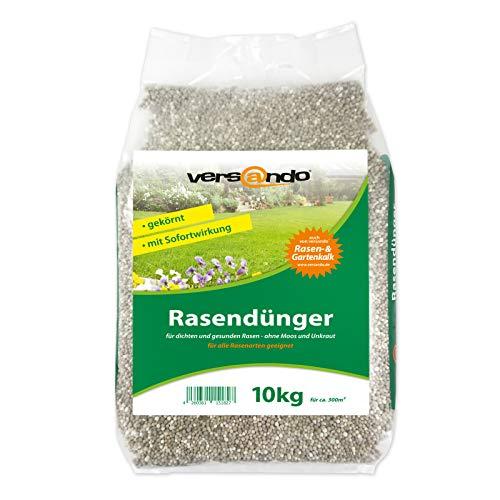 Frühjahrsdünger mit Langzeitwirkung versando Rasendünger 10kg für ca. 300m²...
