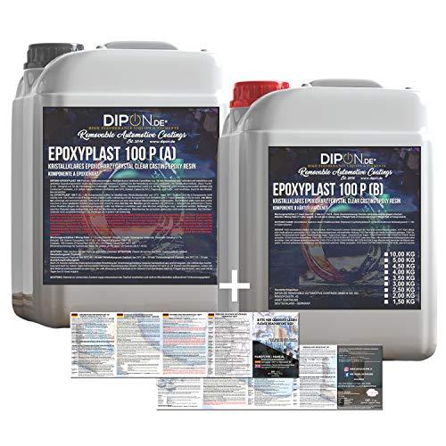 3 KG Epoxidharz 2K EpoxyPlast 100P Holz Glasklar Laminierharz Gießharz Epoxy für GFK...