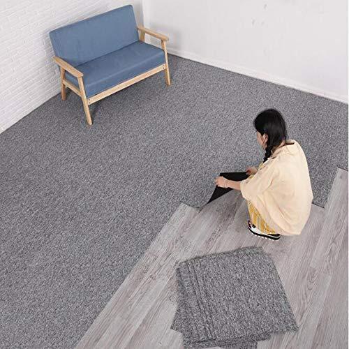 uyoyous Teppichfliesen Nadelfilz 50x50cm, 28 Fliesen=7 m² selbstklebend Teppichboden...