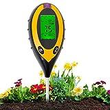 Aulande Bodentester Feuchtigkeitsmessgerät Pflanzen 4-in-1...