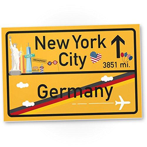 DankeDir! New York City Kunststoff Schild Geschenk für sie - New York Amerika Reise...