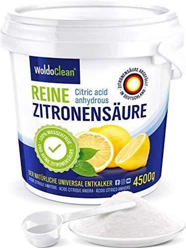 Zitronensäure Pulver 4,5 kg zum Entkalken & Reinigen - in Lebensmittelqualität 100%...