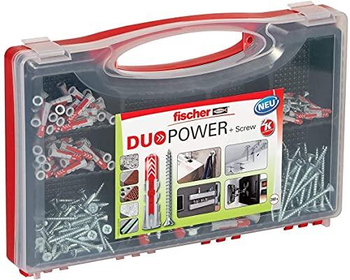 fischer RED-BOX DUOPOWER + Schrauben, Sortimentbox, 280-teilig mit Schrauben & DUOPOWER...