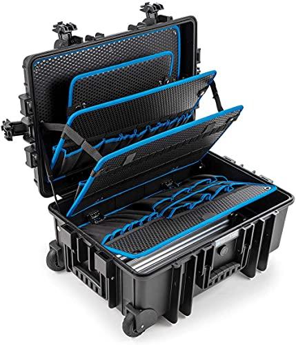 B&W Werkzeugkoffer JUMBO 6700 mobil mit Werkzeugeinsteckfächern (Koffer aus PP, Volumen...