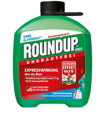 Roundup Express Unkrautfrei, Fertigmischung zur Bekämpfung von Unkräutern und Gräsern,...