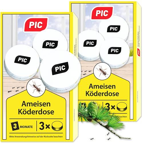 PIC - Ameisenköder-Dose - Ameisenköder für Innen, Terrasse, Balkon und Keller -...