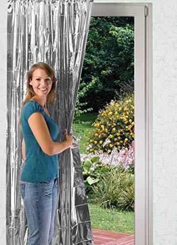 WENKO Isolier-Schutz, 2er Set Isolierfolie für Fensterscheiben Alu Isolierfolie...