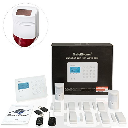 Safe2Home® Funk Alarmanlage Großes Set SP210 mit Sabotageschutz u Lichtsteuerung -...
