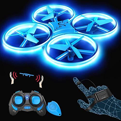 SNAPTAIN SP300 Drohne mit Blaue LED, RC Quadrocopter mit 3 Fernbedienungen, 2 Akkus für...
