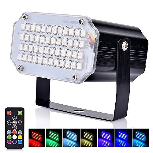 Stroboskop Disco Licht, Sound Aktiviert Und Flash Speed Control Party Licht mit 48 LED...