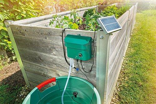 Solar Bewässerungssystem Waterdrops Komplettset Pflanzenbewässerung mit 15 Sprinklern...