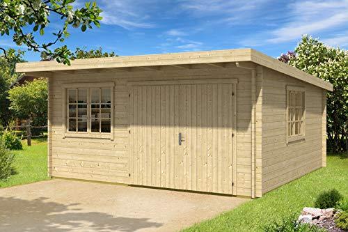 CARLSSON Alpholz Gartenhaus Storehouse 44-C aus Massiv-Holz | Gerätehaus mit 44 mm...