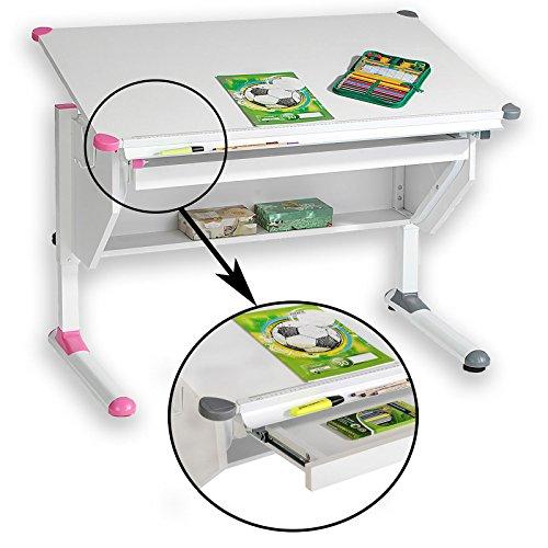 CARO-Möbel Kinderschreibtisch Philipp - mit Schublade höhenverstellbar, neigbar -...