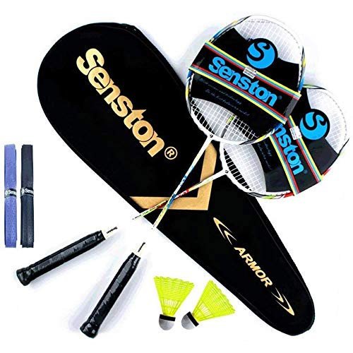 Senston Graphit Badminton Set Carbon Profi Badmintonschläger Leichtgewicht Badminton...