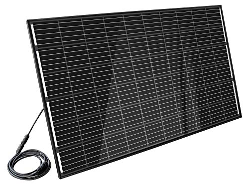 Home-Solar-Modul 320Wp'Full Black' (HSM320Wp + ohne Gestell + Anschlusskabel'Schuko' 10m)