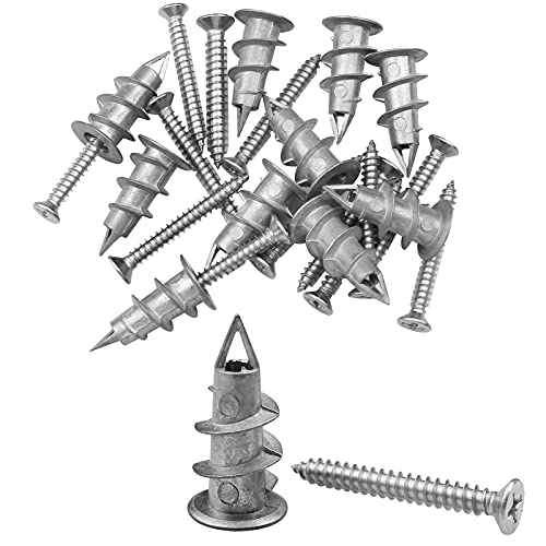 20 Set Baven Gipskartondübel Metall 35mm Rigipsdübel mit Schraube Rigipsdübel...