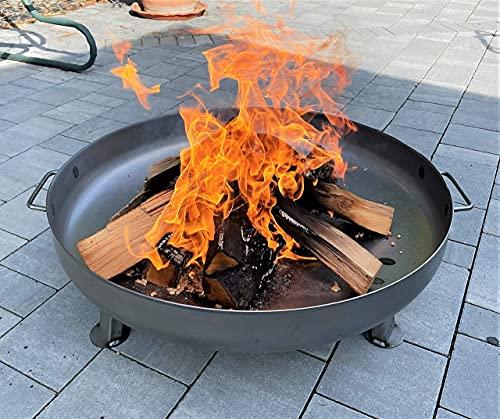 Czaja Stanzteile Feuerschale Bonn Ø 80 cm - mit Wasserablaufbohrung - Feuerschalen für...