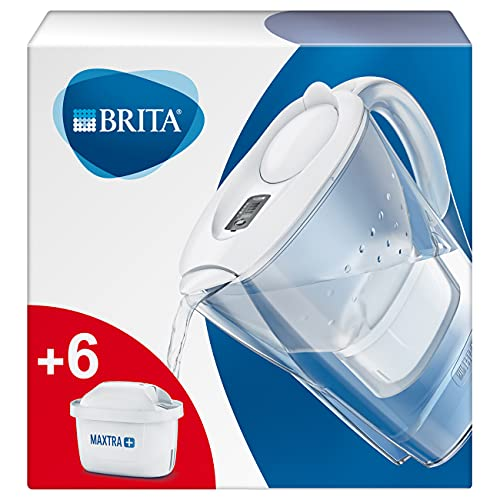 BRITA Wasserfilter Marella weiß inkl. 6 MAXTRA+ Filterkartuschen – BRITA Filter...