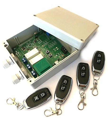 Set 4x Handsender und Funk Empfänger Steuerung für alle 433MHz Sender mit Keeloq,...