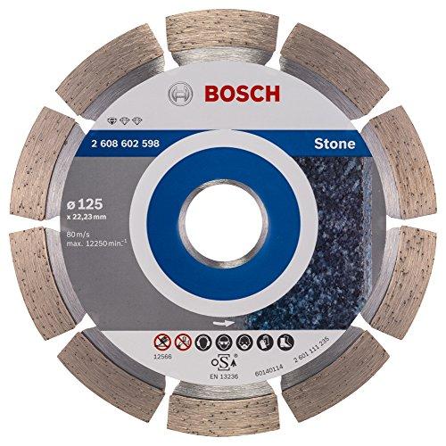 Bosch Professional Diamanttrennscheibe Standard für Stone (für Stein, 125 x 22,23 x 1,6...