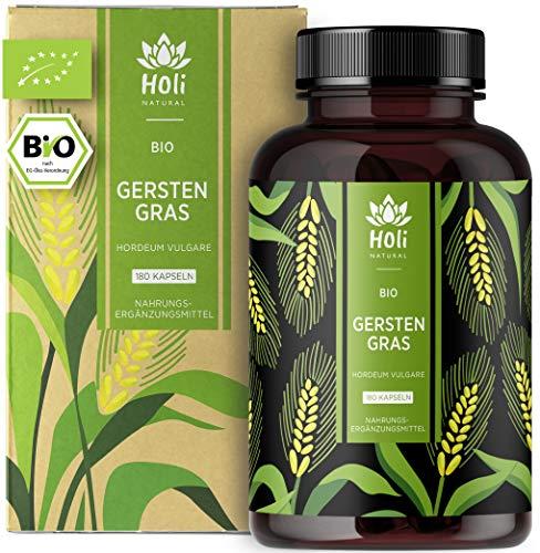 Holi Natural® BIO Gerstengras | 180 Kapseln | 3600mg je Tagesdosis | Nachhaltiger...