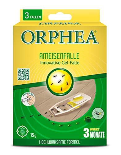 Orphea Ameisenfalle mit Ameisen Gel hochwirksam, 3 Monate Langzeitwirkung, Ameisen...