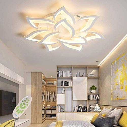 LED Deckenleuchte Dimmbar ,Wohnzimmerlampe mit Fernbedienung Farbwechsel ,Schlafzimmer...