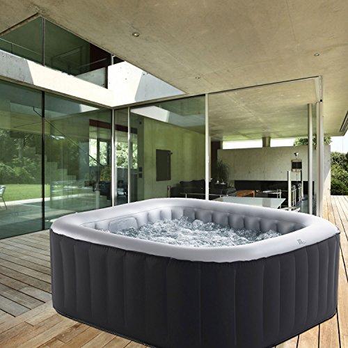 Whirlpool MSpa aufblasbar für 4 Personen 158x158cm In-Outdoor Pool 108 Massagedüsen...