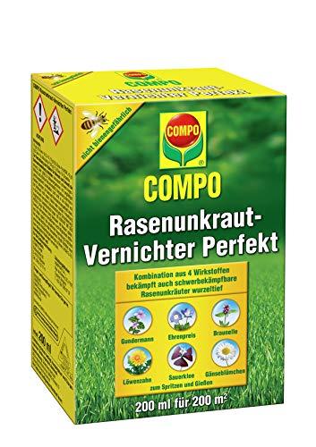 COMPO Rasen Unkrautvernichter Perfekt, Vernichtung von schwerbekämpfbaren Unkräutern,...