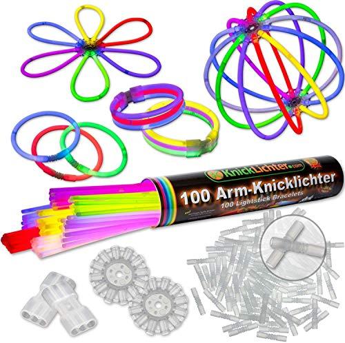 100 Knicklichter 7-FARBMIX, Testnote: 1,4 'SEHR GUT', Komplett-Set inkl. 100x TopFlex-, 2x...
