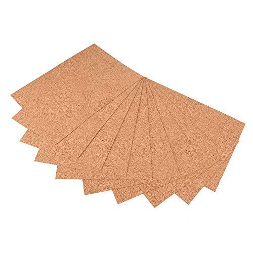 ewtshop® 10 Korkplatten im Format DIN4, 1mm dicke Korktafel für Bastelarbeiten, Karten,...